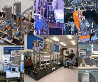 equipment and lab collage